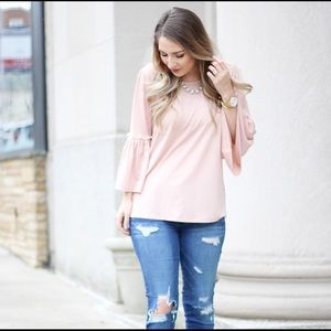 Tops - Blush pink top